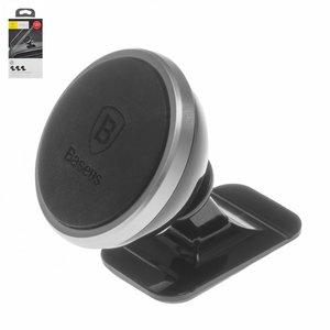 Автомобільний тримач Baseus, чорний, сріблястий, магнітний, #SUGENT NT0S