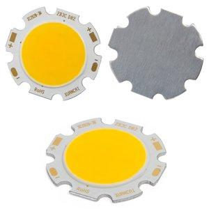 COB LED Chip 3 W (warm white, 250 lm, 28 mm, 300 mA, 9-12 V)