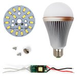 LED Light Bulb DIY Kit SQ-Q24 5730 E27 9 W – cold white