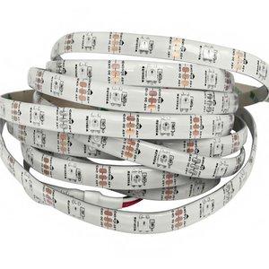 RGB LED Strip SMD5050, WS2812B (white, with controls, IP65, 5 V, 30 LEDs/m, 5 m)