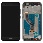 LCD compatible with Huawei P10 Lite, (black, with touchscreen, with frame, Original (PRC), WAS-L21/WAS-LX1/WAS-LX1A)