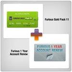 Renovación de acceso al servidor Furious Gold por 1 año  + Furious Gold Pack 11