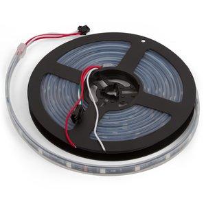 Светодиодная лента, IP67, RGB, SMD 5050, WS2811, с управлением, черная, 12В, 30 д/м, 5 м