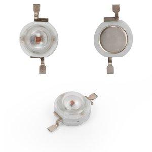Світлодіод 1 Вт (червоний, 50 лм, 620 нм, 350 мА, 3,2-3,4 В)