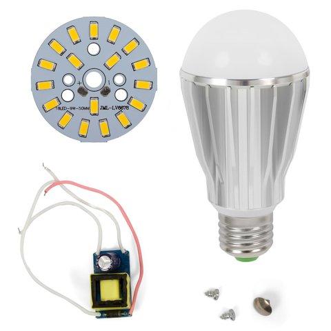 Комплект для збирання світлодіодної лампи SQ Q17 9 Вт теплий білий, E27 , регулювання яскравості димірування