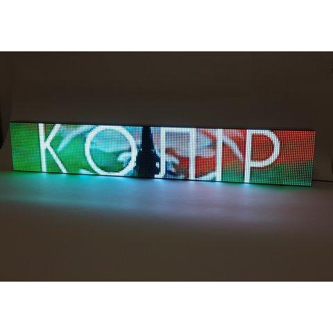 RGB LED дисплей для реклами 960 мм × 160 мм, 192 × 32 точок , IP20